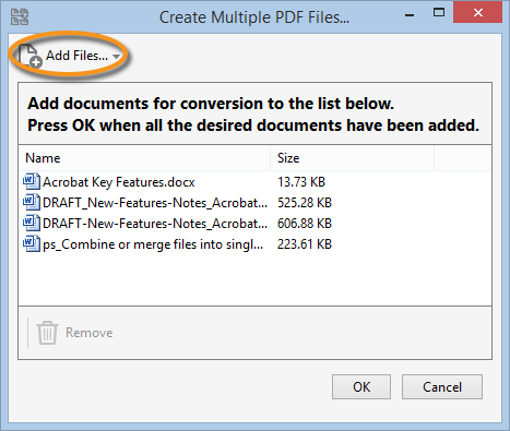 Create PDFs with Adobe Acrobat.