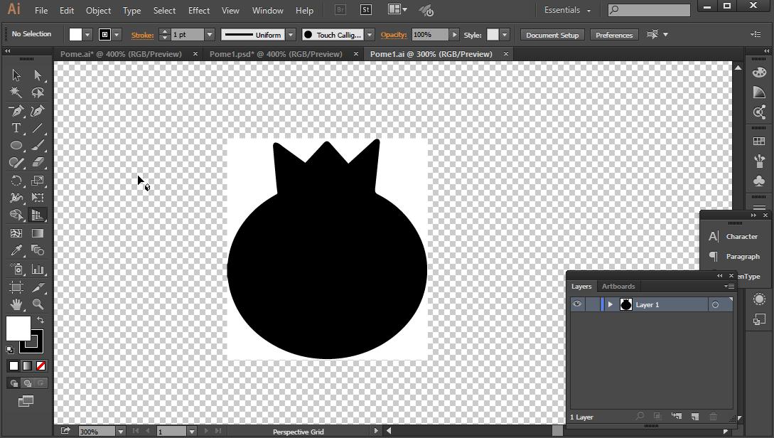 How do I get a transparent background in Illustrator CC?.