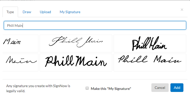 Wet Ink Signature.