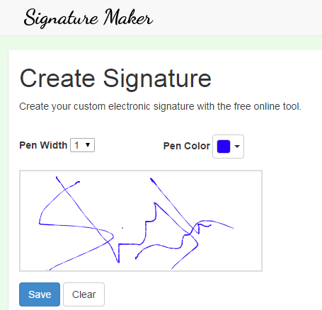 Online Signature Maker Tool, Save Signature as PNG Image.