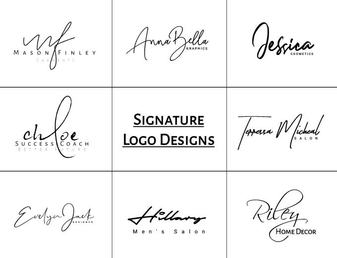 create handwritten or signature logo design.