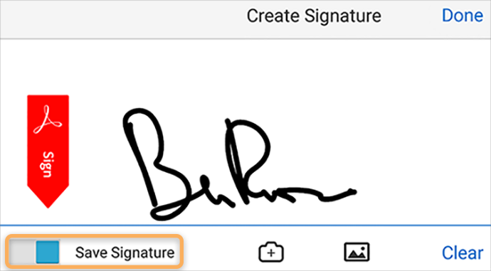 Capture your signature on mobile and use it everywhere.