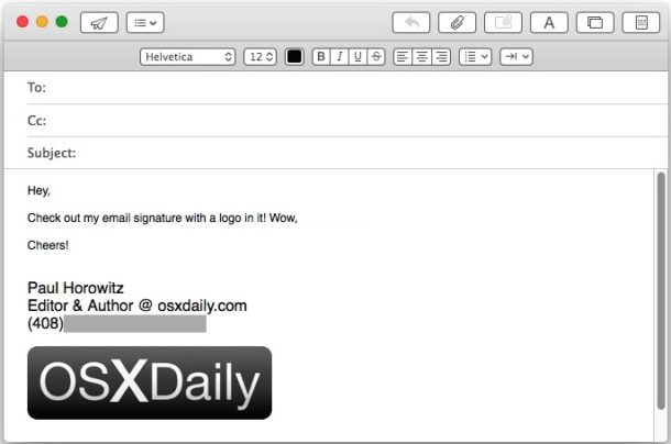 How to Add an Image to Email Signature in Mail for Mac.
