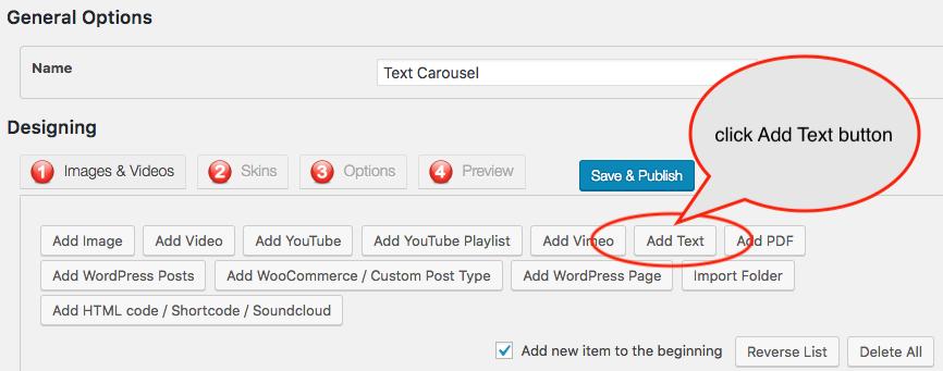 How to create WordPress text carousel.