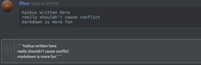 Markdown Text 101 (Chat Formatting: Bold, Italic, Underline).