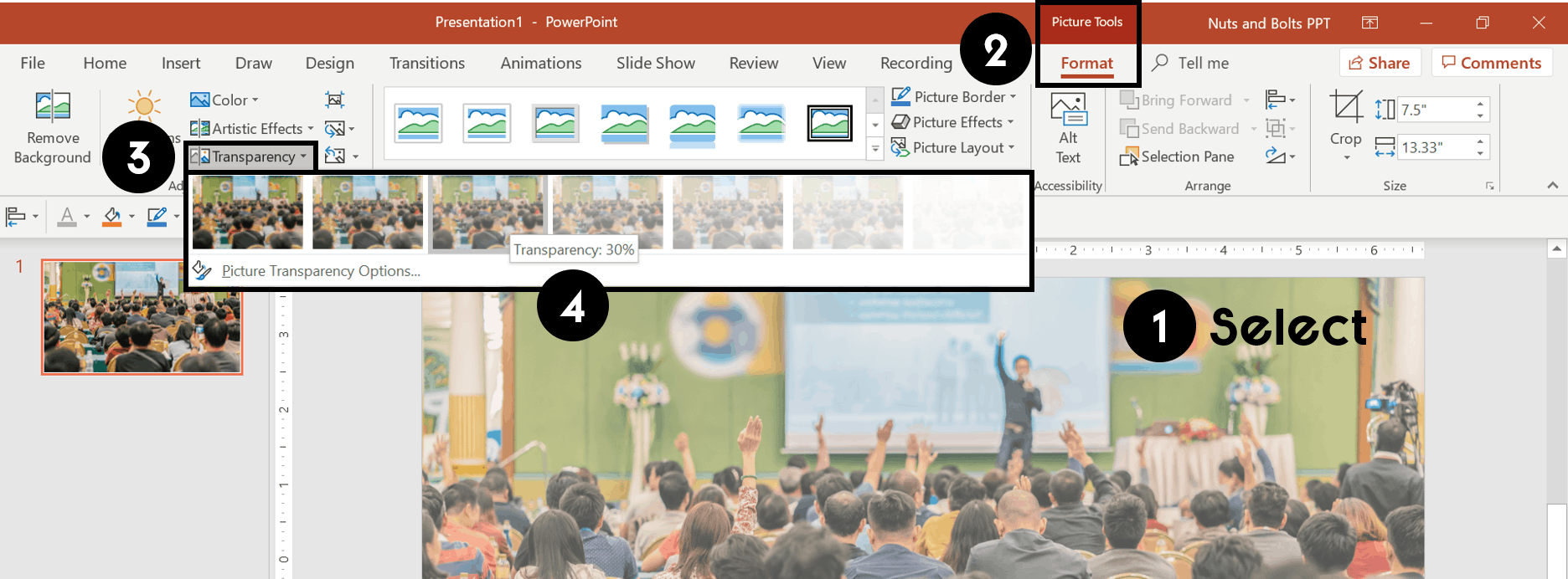 How to Make an Image Transparent in PowerPoint (Step.