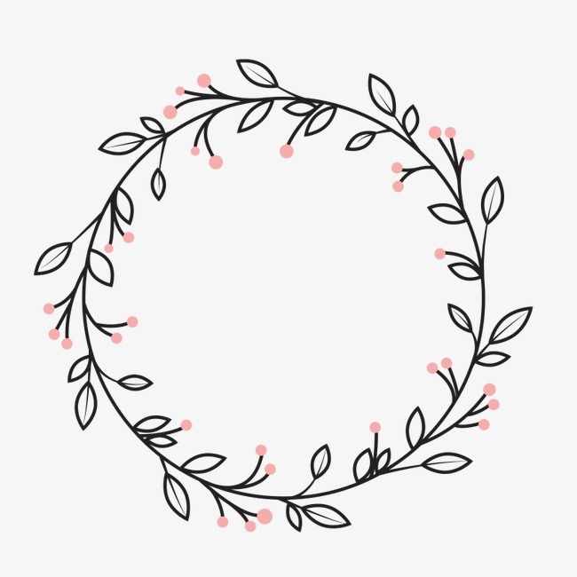 Wreath, Cartoon Creative, Wedding Decoration Material PNG.
