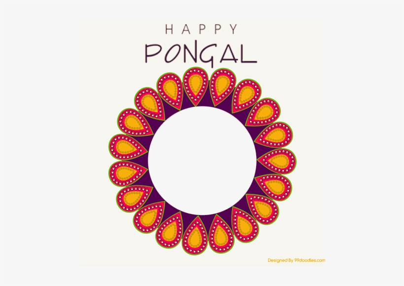 Create Happy Pongal Wishes Photo Frame With Name Online.