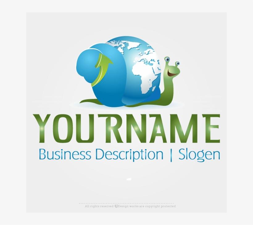 Logomaker Create Logo Online Snail Globe Logo Design.