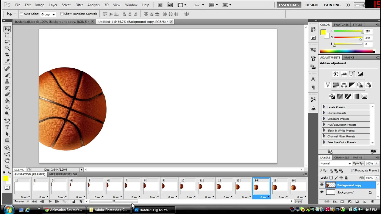How To make an Animation (GIF) in Photoshop CS5 or 6 *HD*.