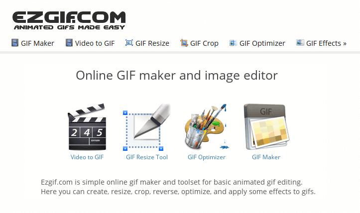 Animated GIF editor and GIF maker.