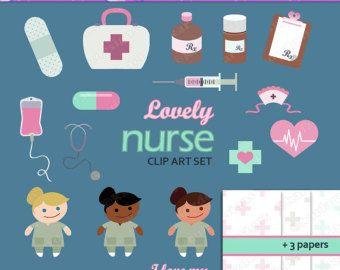 Lovely Nurse Clip Art Set (ca101069043).