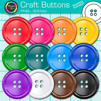 Craft Button Clip Art {Rainbow Manipulatives for Math Center Activities}.