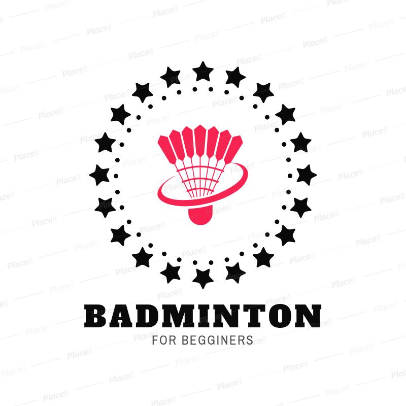 Badminton Club Logo Maker with a Shuttlecock Clipart 1632.