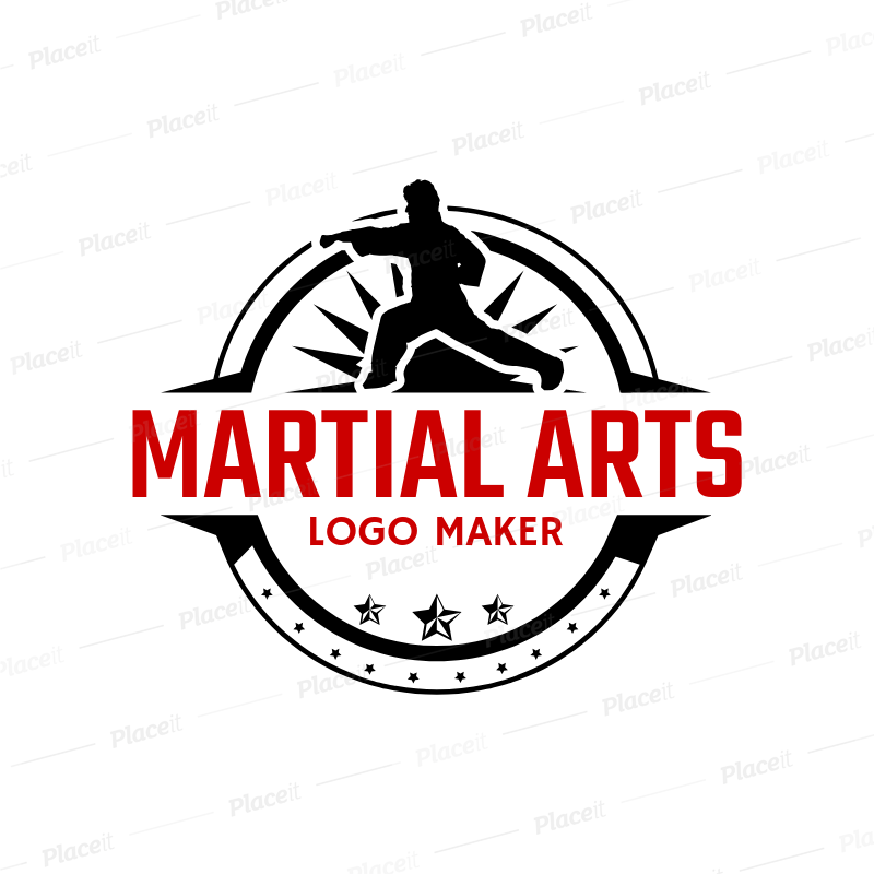 Martial Arts Logo Maker with Karate Clipart 1607.