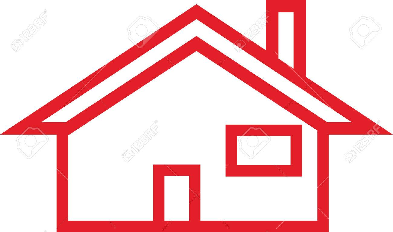 This simple house outline is perfect to create a logo for home...