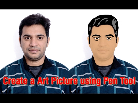 How to make clipart image in Photoshop using Pen Tool.