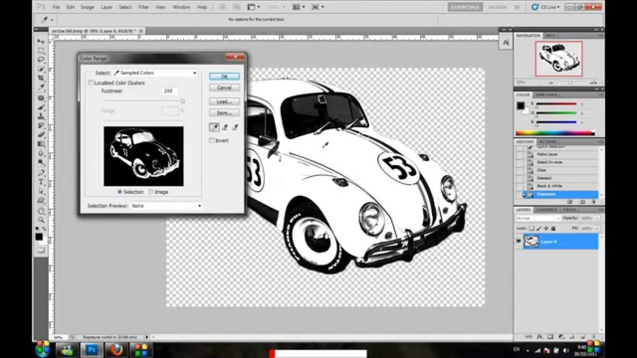 how to convert jpeg image to shape in photoshop CS5 VERY EASY.