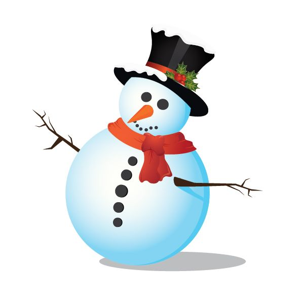 Intermediate: How to Create a Snowman in Adobe Illustrator.