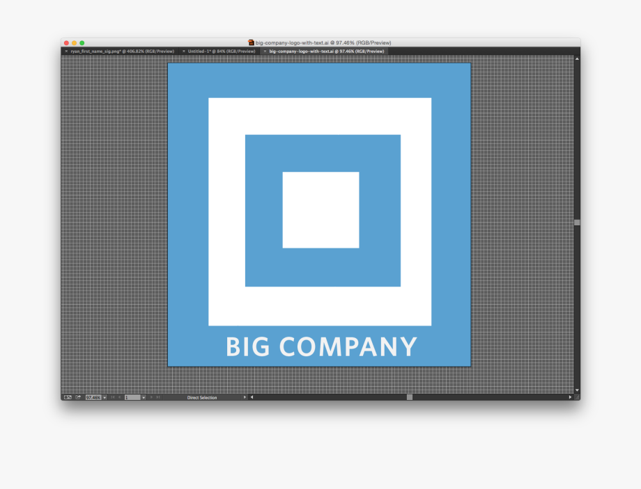 Big Company Logo In Illustrator.