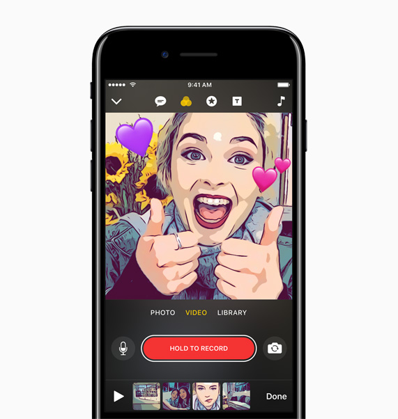Apple introduces Clips: the fun, new way to create.