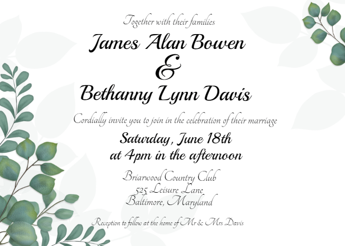 Free editable wedding invitation template that can be.