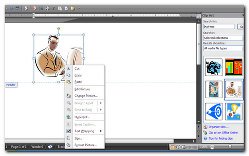 Create a watermark using a Clip Art Gallery image.