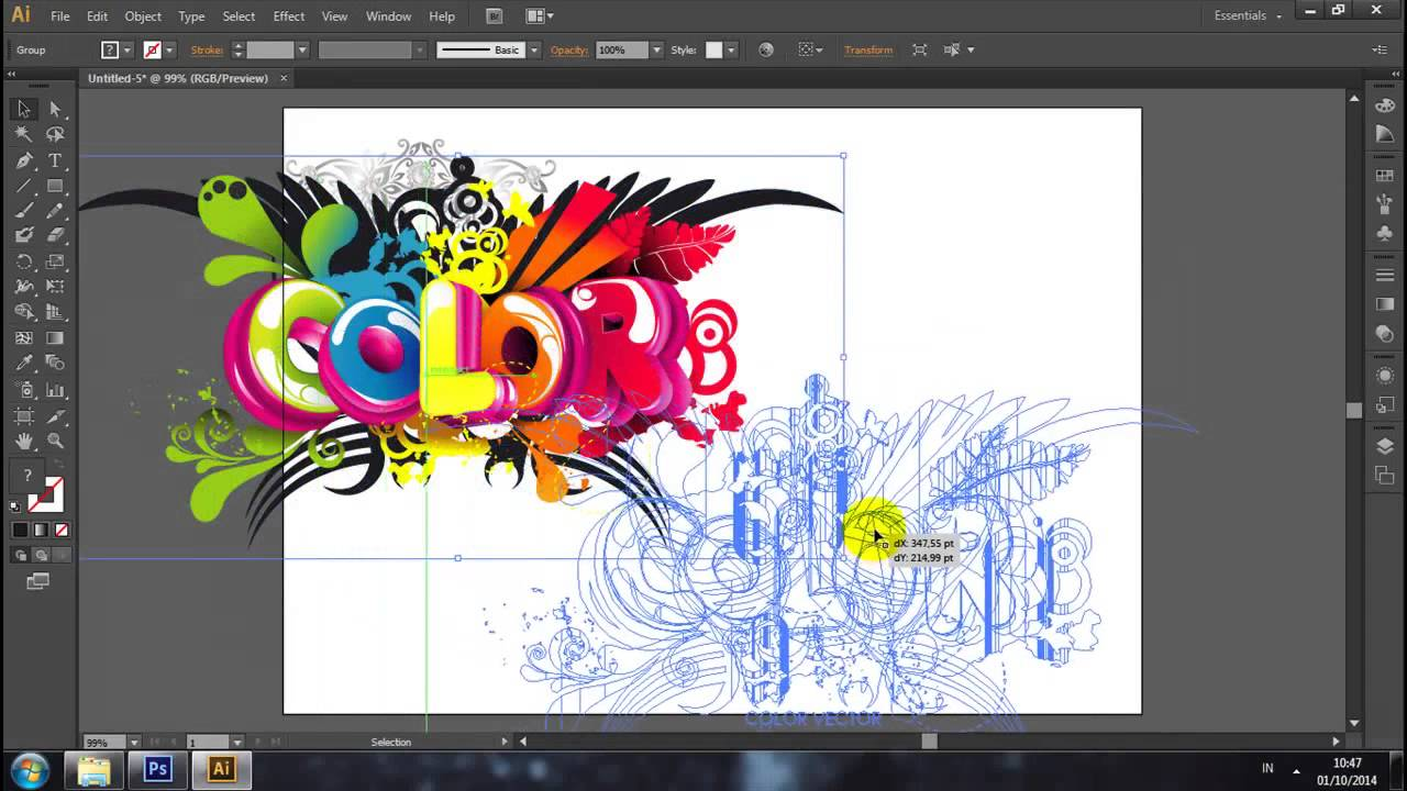 Adobe Illustrator Tutorial How To Create Clipart From Vector File.