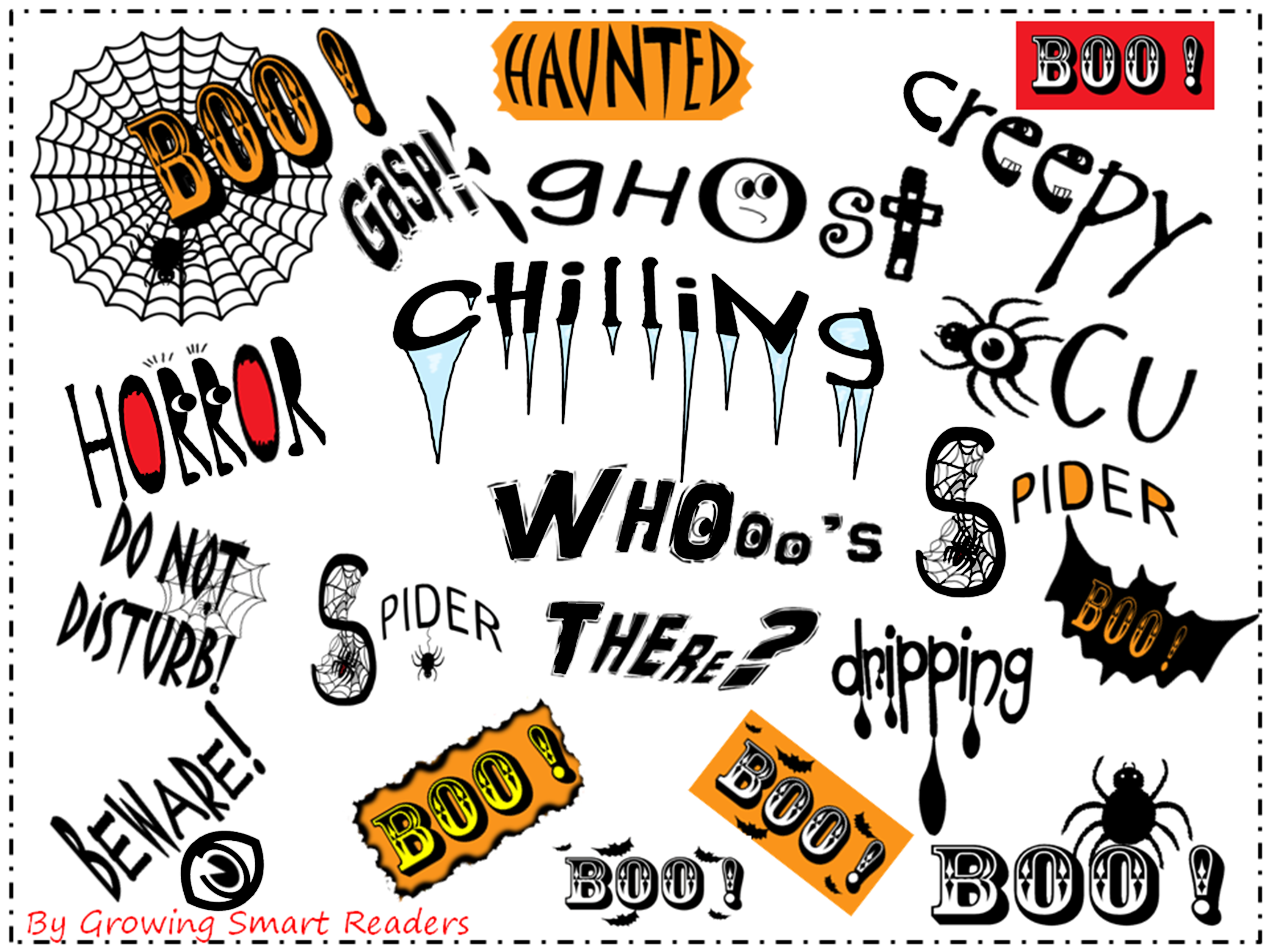 HALLOWEEN SPOOKY WORD ART (For Teachers and Students.