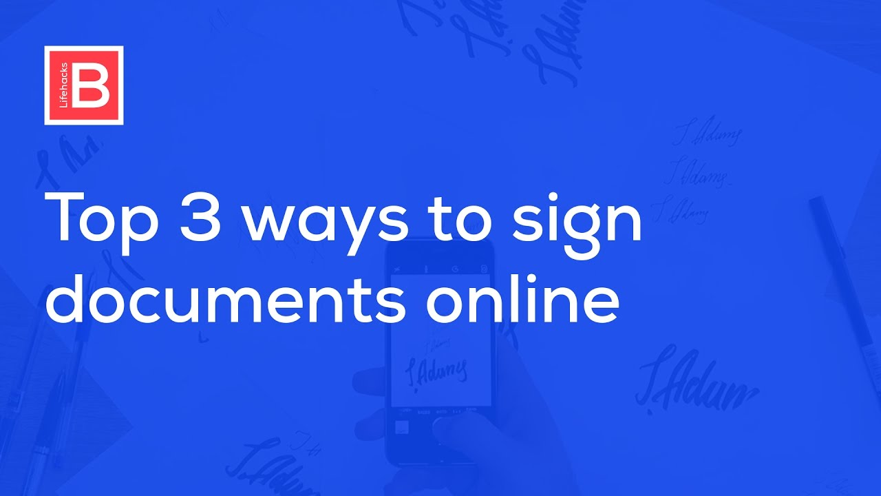 How to Create Electronic and Digital Signature and Sign PDF and Word  Document Online.