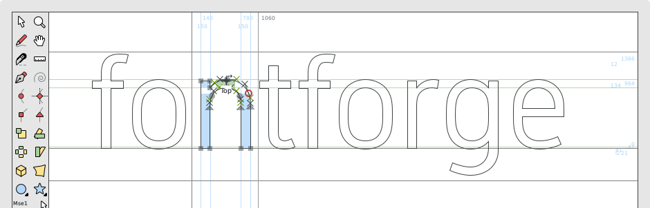 FontForge Open Source Font Editor.