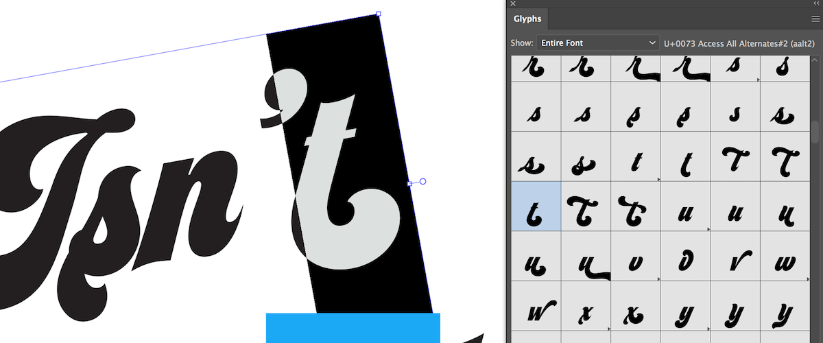 Use Type to Create Letter.