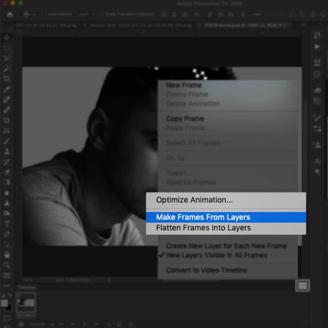 How to make an animated GIF in Photoshop.