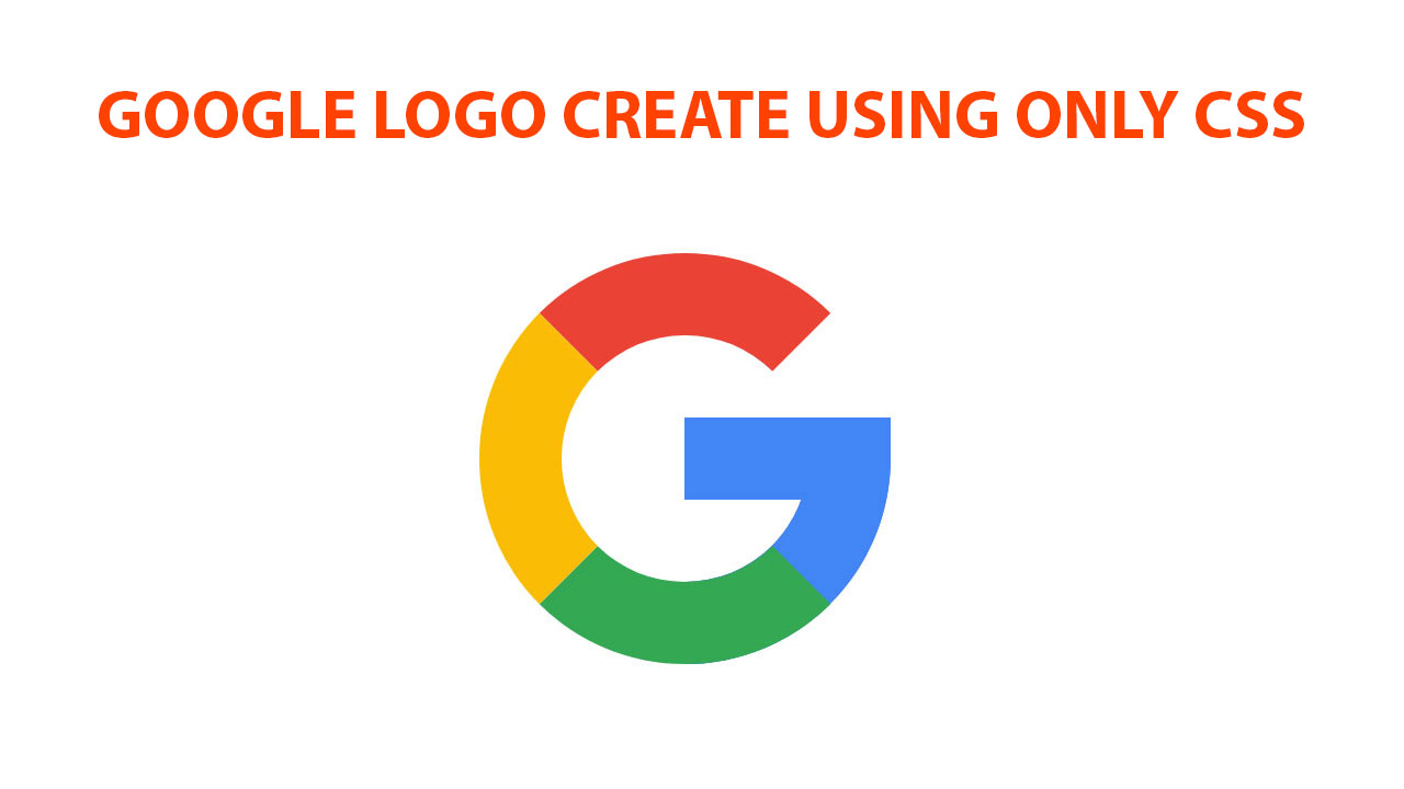 Google Logo Create On Css For Web Design.