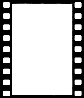 Film strip image for a movie party invitation.