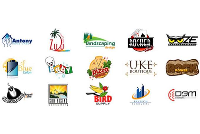 create Colorful UR Name Logo.
