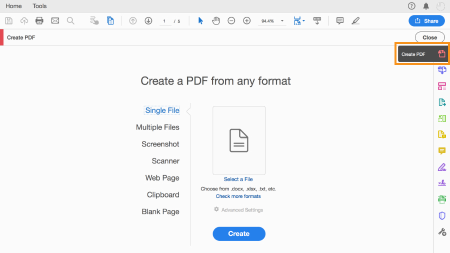 How to create PDFs from text and images.