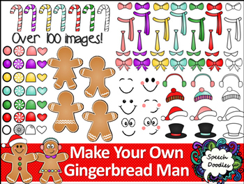 Make Your Own Gingerbread Man Printable and Clipart.