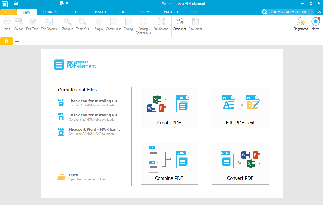 Create, edit and convert PDFs with Wondershare PDFelement [Windows.