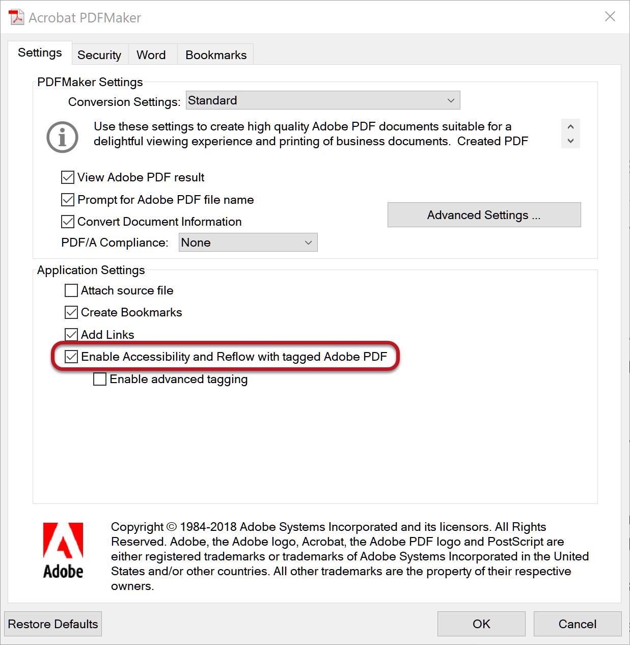 WebAIM: PDF Accessibility.