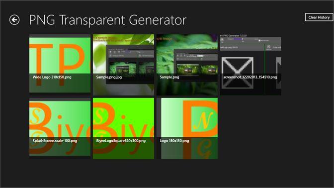 Get Transparent PNG Generator.
