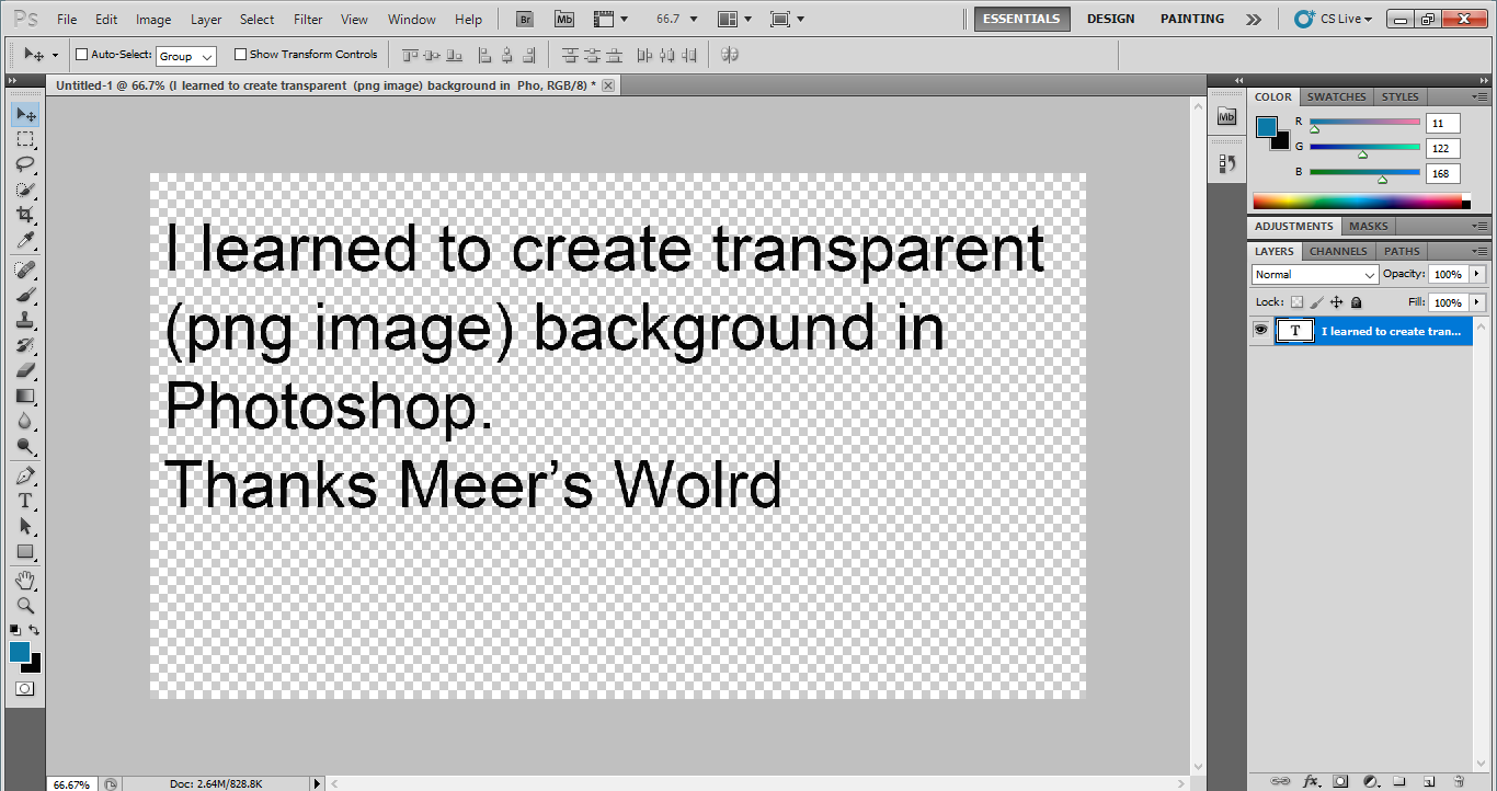 How to Create Transparent background Image in Adobe Photoshop?.