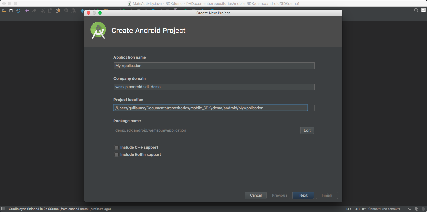 How to use the Android SDK — Wemap 1.0 documentation.