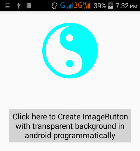 Create ImageButton with transparent background in android.