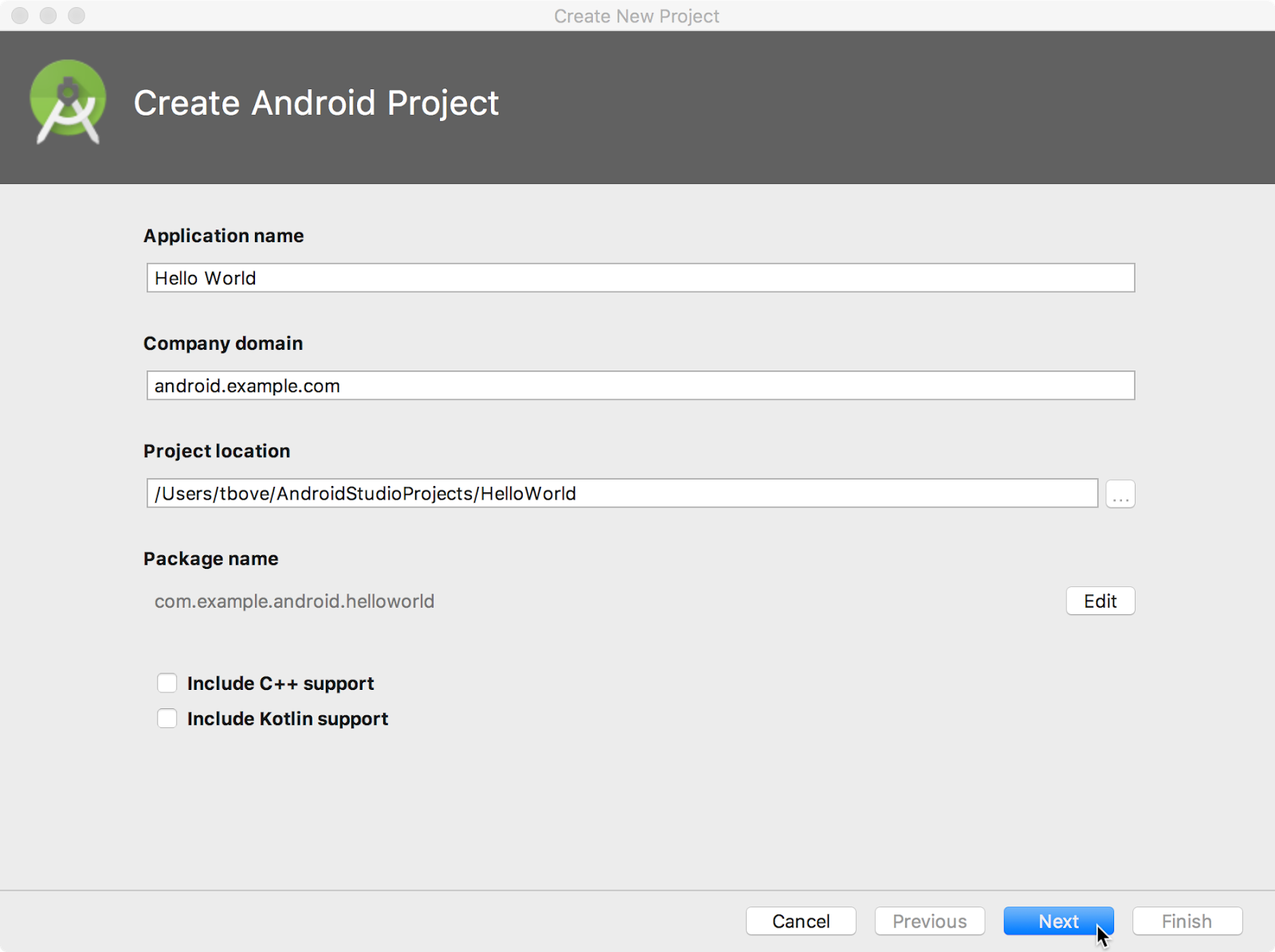 1.1: Your first Android app · GitBook.