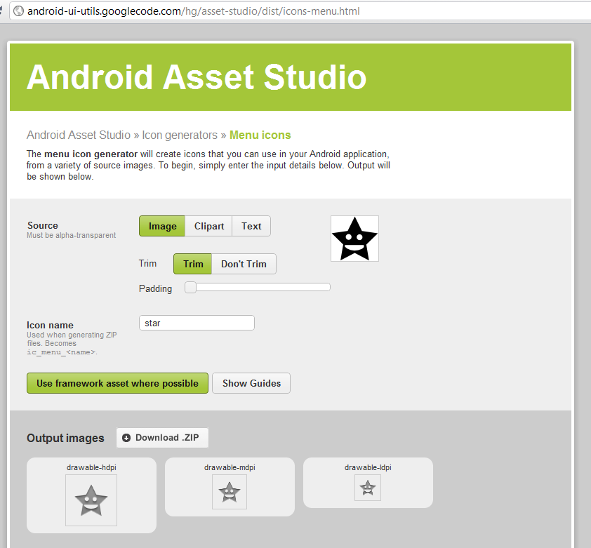The easiest way to create nice icons for Android apps.