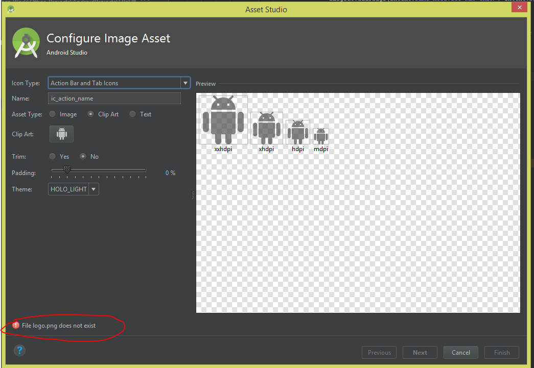 File Logo.png does not exist in Android Studio when i try to create.