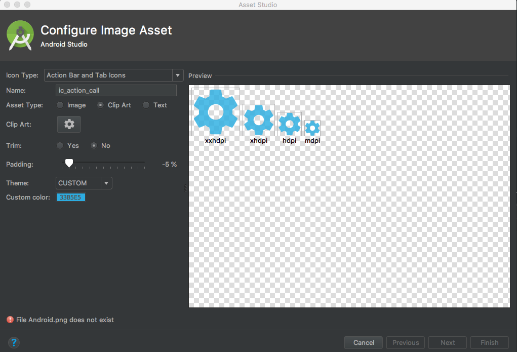 File Android.png does not exist in Android Studio when create image.