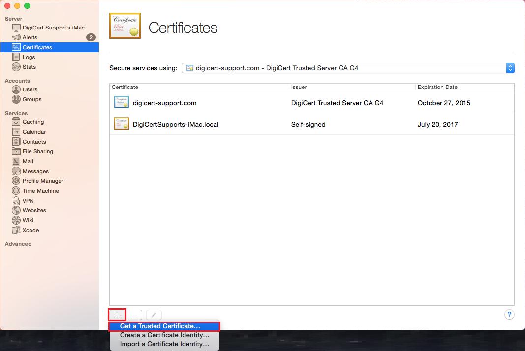 Mac OS X Yosemite: CSR Creation & SSL Certificate Install.