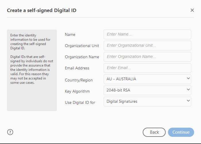 How do I create/use a digital signature?.